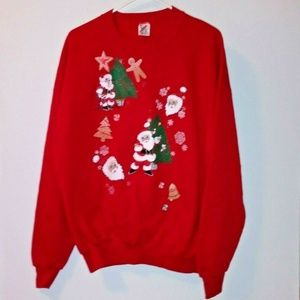 Red Christmas Sweater Pullover ugly /beautiful